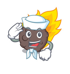 Sailor meteorite character cartoon style vector