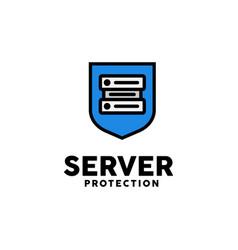 server protection logo design inspiration vector image