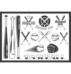 set baseball club emblem label badges vector image