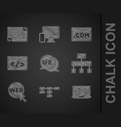 Set ui or ux design site map web development vector