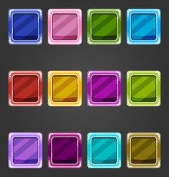 Shiny concave buttons vector