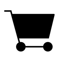 Shopping cart silhouette icon 48x48 pictograph vector