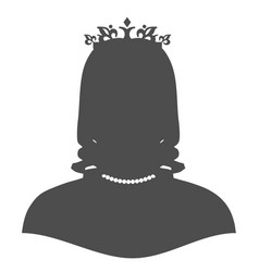 silhouette of a princess in a frame vector image