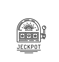 slot machine jackpot vector image