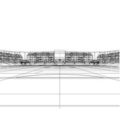 soccer stadium or football arena concept vector image