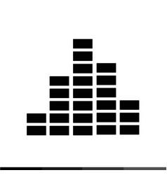 Sound bars pulse icon design vector