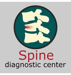 Spine diagnostic center logo vector