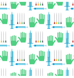 syringe seamless pattern background cartoon vector image