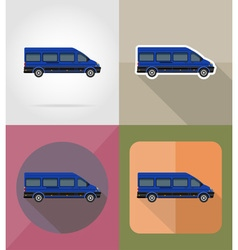 transport flat icons 11 vector image
