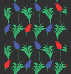 turkish tulip seamles pattern vector image