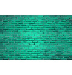 Turquoise brick wal vector image vector image