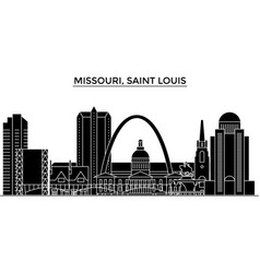Usa missouri saint louis architecture vector