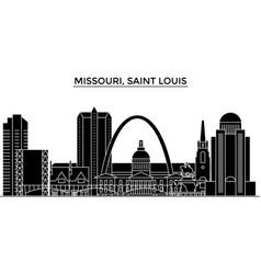usa missouri saint louis architecture vector image