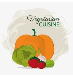Vegetarian cuisine vegetables healthy food natural vector