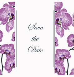 vertical banners with exotic violet orchid flowers vector image