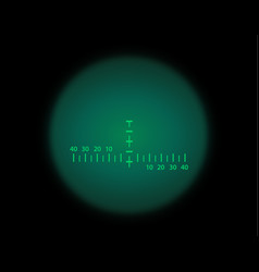View through the optical sight night vision style vector