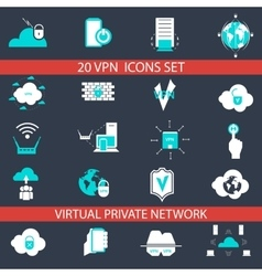 VPN Icons Set vector image