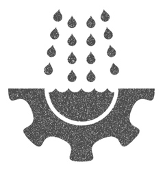 Water Shower Service Gear Grainy Texture Icon vector
