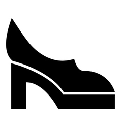 Women shoes icon simple style vector