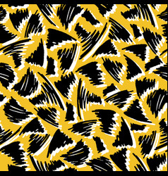 yellow and black geo abstract scribble shapes vector image