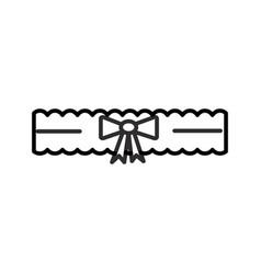 bride garter line icon sign vector image