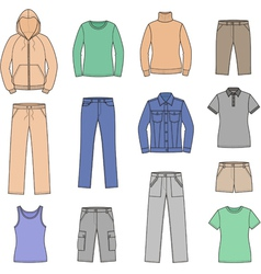 Casual clothes vector image vector image