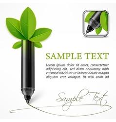 Ecology concept felt pen vector image vector image