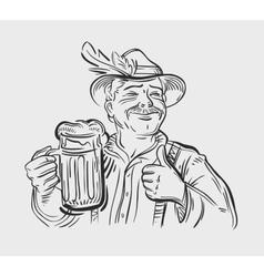 Oktoberfest logo design template Beer ale vector image vector image
