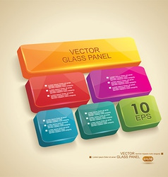 Panel 3d glass vector image vector image