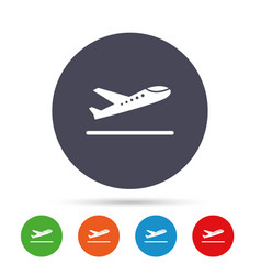 plane takeoff icon airplane transport symbol vector image
