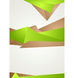 Abstract green brown shapes modern flyer design vector