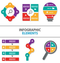 Colorful Infographic elements flat design set vector image