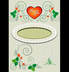 Frame and corner with the decor vector image vector image