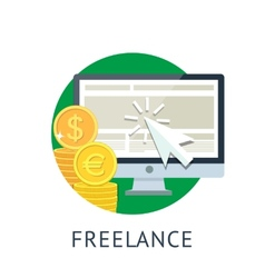 Freelance icon vector image