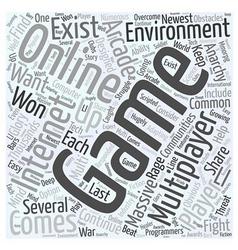Massive Multiplayer gaming communities Word Cloud vector image