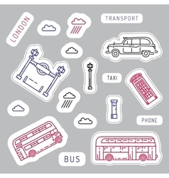 Public transport london vector