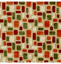 seamless christmas retro pattern vector image