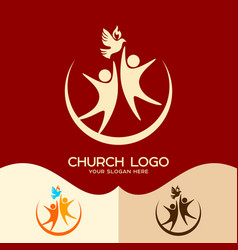 the holy spirit and people vector image vector image
