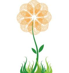 bubble flower vector image vector image
