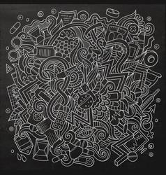 cartoon cute doodles hand drawn medical vector image vector image