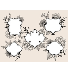 floral labels vector image vector image
