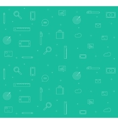 Icons analytics background set of sketch vector image