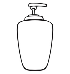 A liquid container vector image