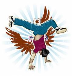 breakdance vector image
