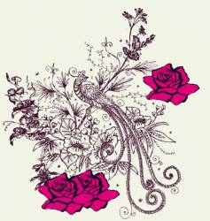 fashion floral design vector image vector image