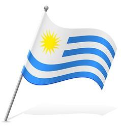 Flag of uruguay vector