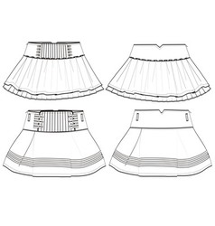 Girls skirt vector image vector image