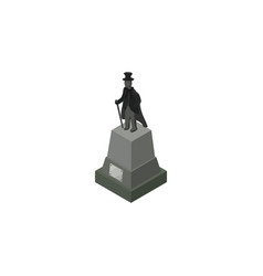 isolated statue isometric sculpture vector image vector image