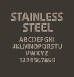 stainless steel alphabet mat metal abc vector image