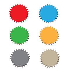starburst label on white background 6 starbursts vector image